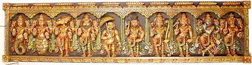 Ten avatars of Vishnu image