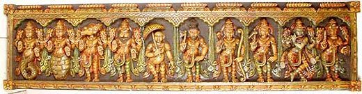 Ten avatars of Vishnu image