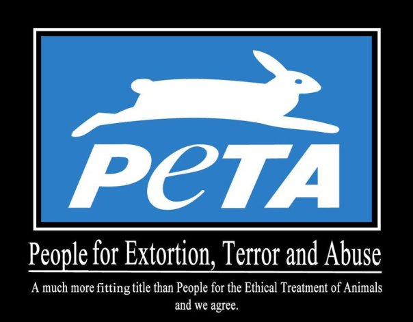 Image of PeTA animal rights groups
