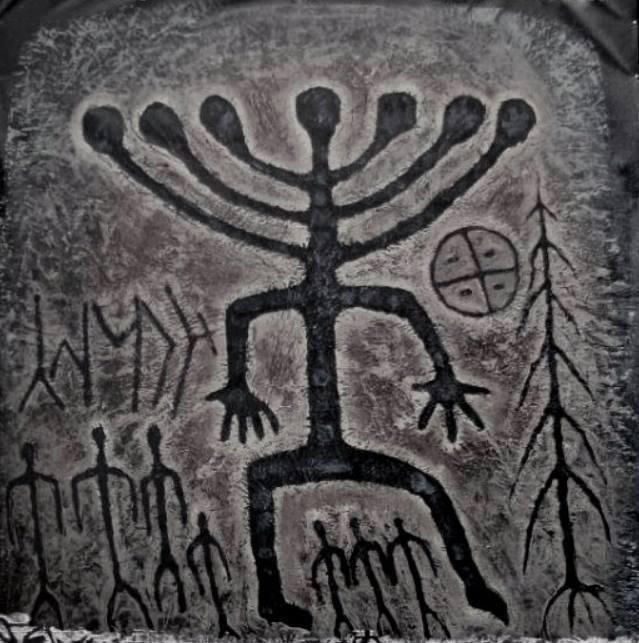 Khakassia Petroglyphs. Image.