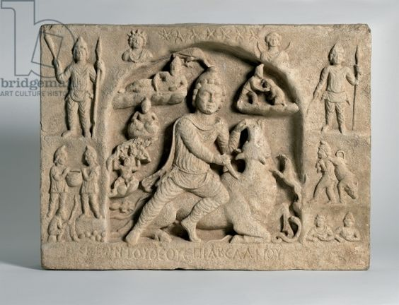 Mitra relief in Roman Empire.image.