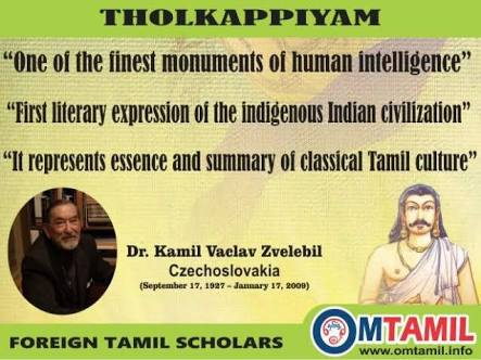 Quote on Tholkaapiyam by a scholar.image.
