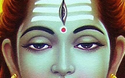 Lord Shiva with Vibhuthi.image.