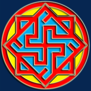 symbol of Ynglism, a Russian Pagan religion often classified as a Rodnover sect. Date 2 August 2013 Source Ynglist Church: http://www.old-church.ru/ Author Ynglists.image.png