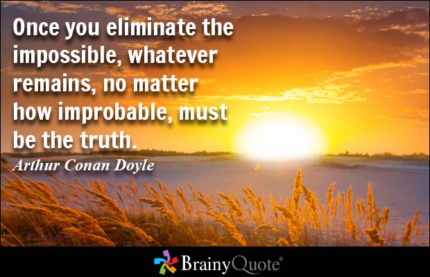 Arthur Conan Doyle quote..image