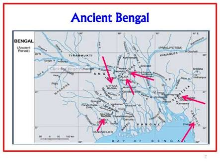 Map of prehistoric Bengal.image.