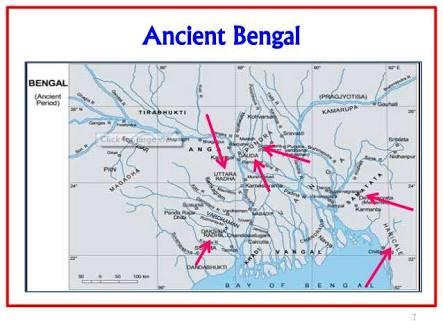 Map of prehistoric Bengal.image.