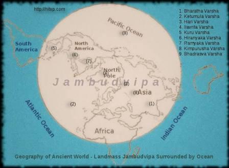 Jambu dvipa. Image.