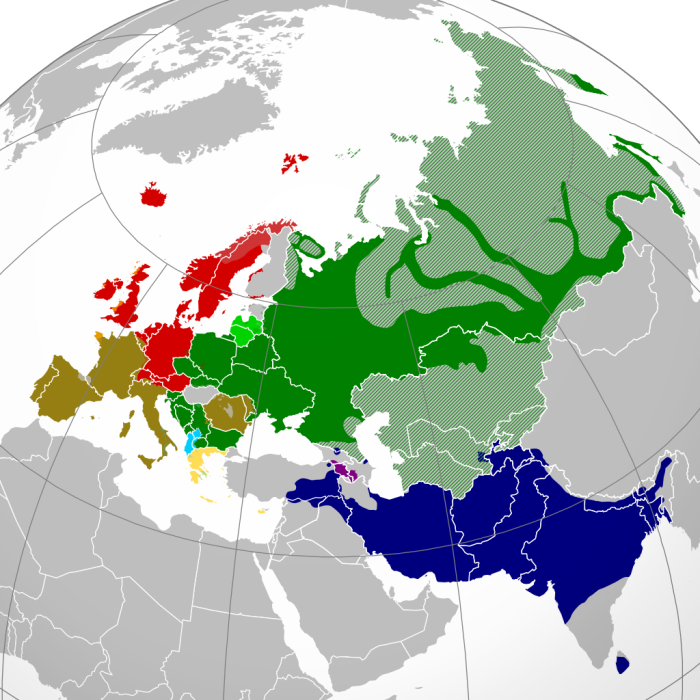 Indo European languages distribution .image.