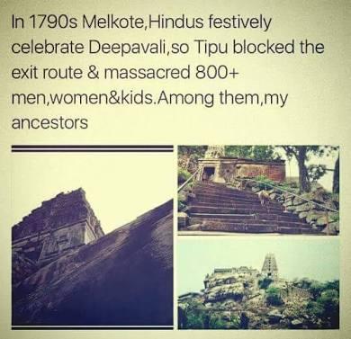 Tipu sultans massacre of Hindus. Image