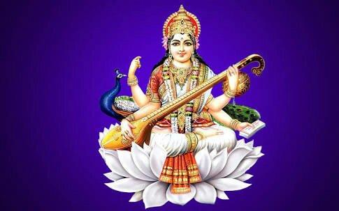 Goddess Sarasvathi.Image.
