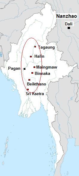 Ancient city Sri Kshetra in Myanmar