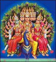 Subrahmanya as Aarumugan,Six faces.image