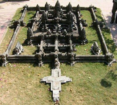 Angkorvat Aerial view. Image.