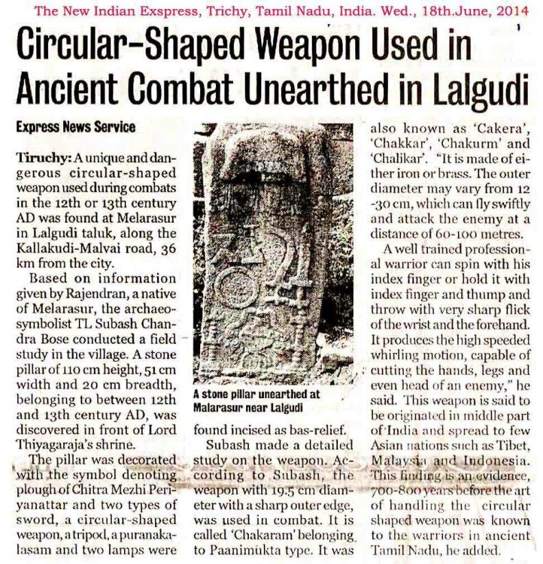 Sudarshan chakra model found,Indian Express report.screenshot.image