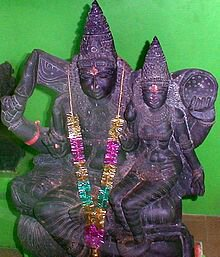 Ila with Budha, son of Moon,Chandra.image