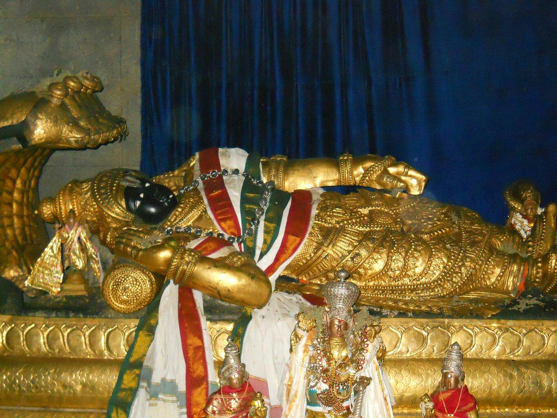 Lord Vishnu as Ranganatha at Srirangam.image