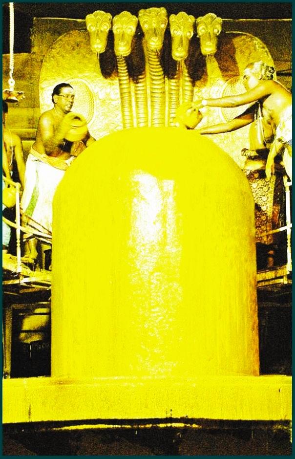 Sandalwood Paste Abhisheka. Image.