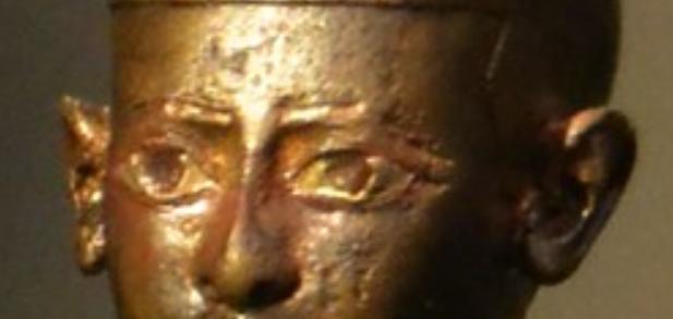 Pharoah with Vaishnava marks. Sculpture