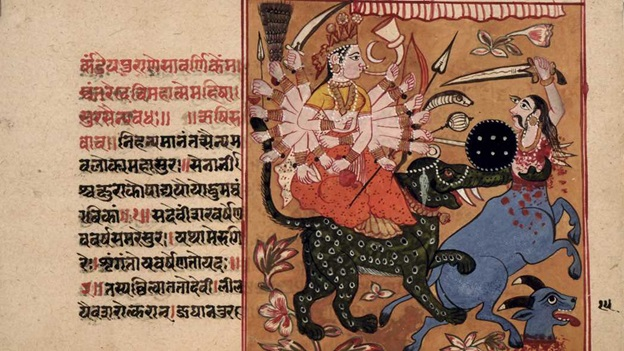 Devimahatmiya illustration in British Museum. Image