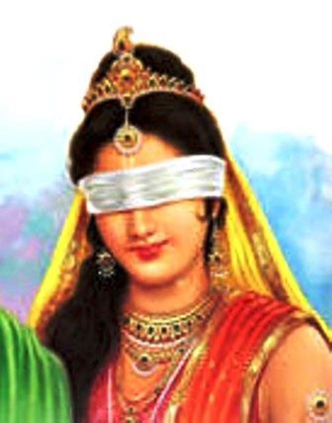 Gandhari, Dhritarashtra's wife did not curse Afghanistan