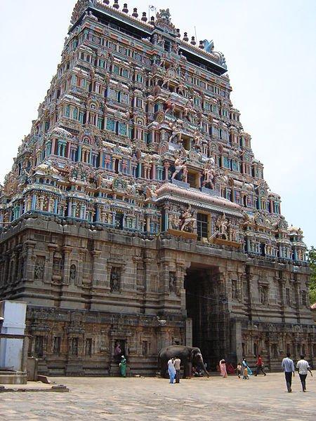 Temple Gopuram, Chidambaram,India. Image